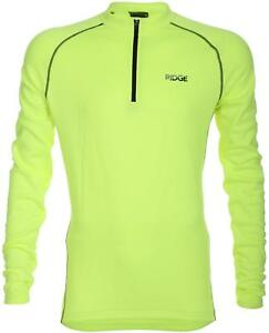 c5775788d Image is loading Ridge-Mens-Gents-Thermal-Cycling-Jersey-Fluro-Yellow-