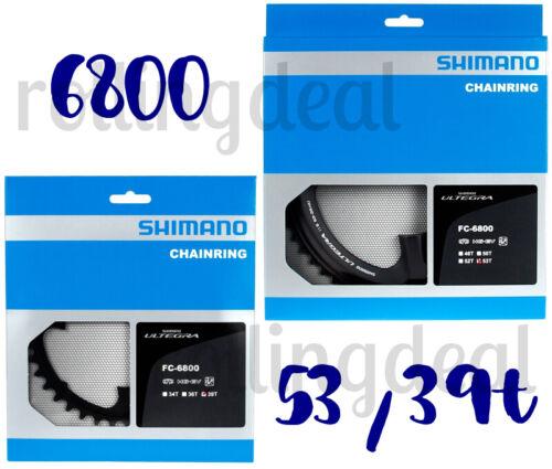 Shimano Ultegra FC-6800 110mm BCD 4 Arm Chainrings NIB 53T /& 39T