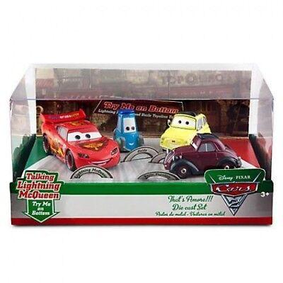 Disney Store Pixar Cars 2 Black Tractor Chase Die Cast Acrylic Plastic Display