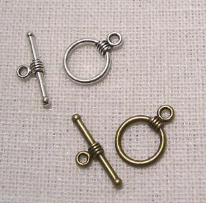 FT02-LOT-10-a-25-sets-FERMOIRS-TOGGLE-ROND-19-x-16-mm-Bijoux-bracelet