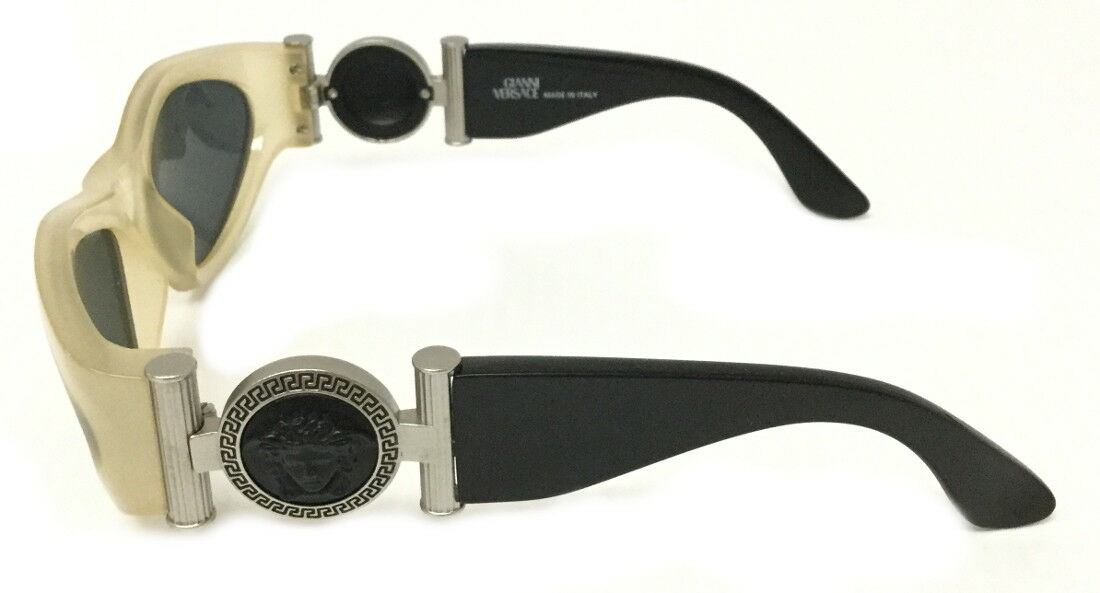 Gianni Versace Vintage 618/b Black & Clear Sungla… - image 5