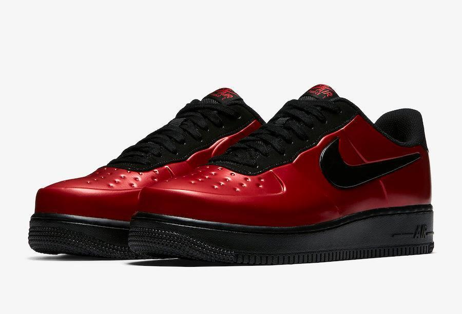 NIKE AF1 AIR FORCE 1 FOAMPOSITE PRO CUP CUPSOLE AJ3664 601 GYM RED/BLACK