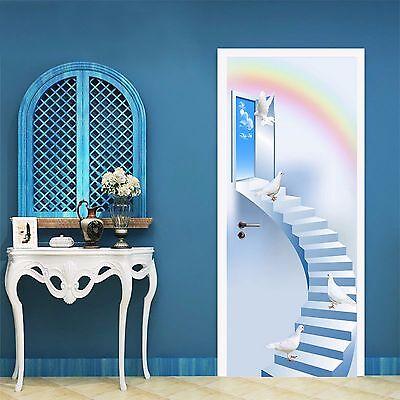3D Falls Stairs 24 Door Wall Mural Photo Wall Sticker Decal Wall AJ WALLPAPER AU