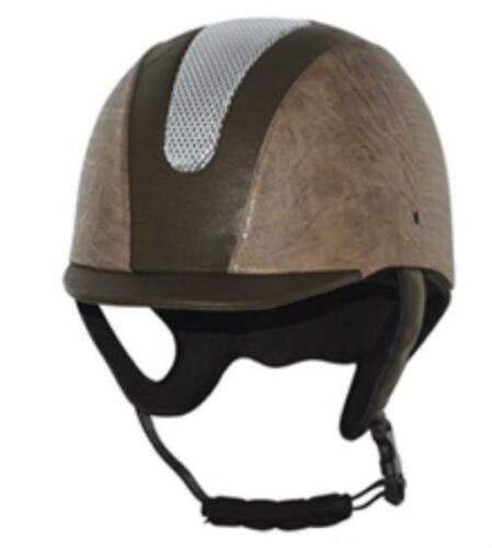 All purpose Horse Riding Western Helmet leather print EA & Ponyclub appr VG1 040