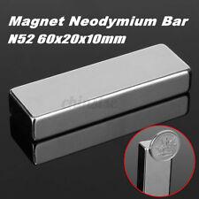 N52 60x20x10mm Square Block Magnet Neodymium Rare Earth Magnets Forc
