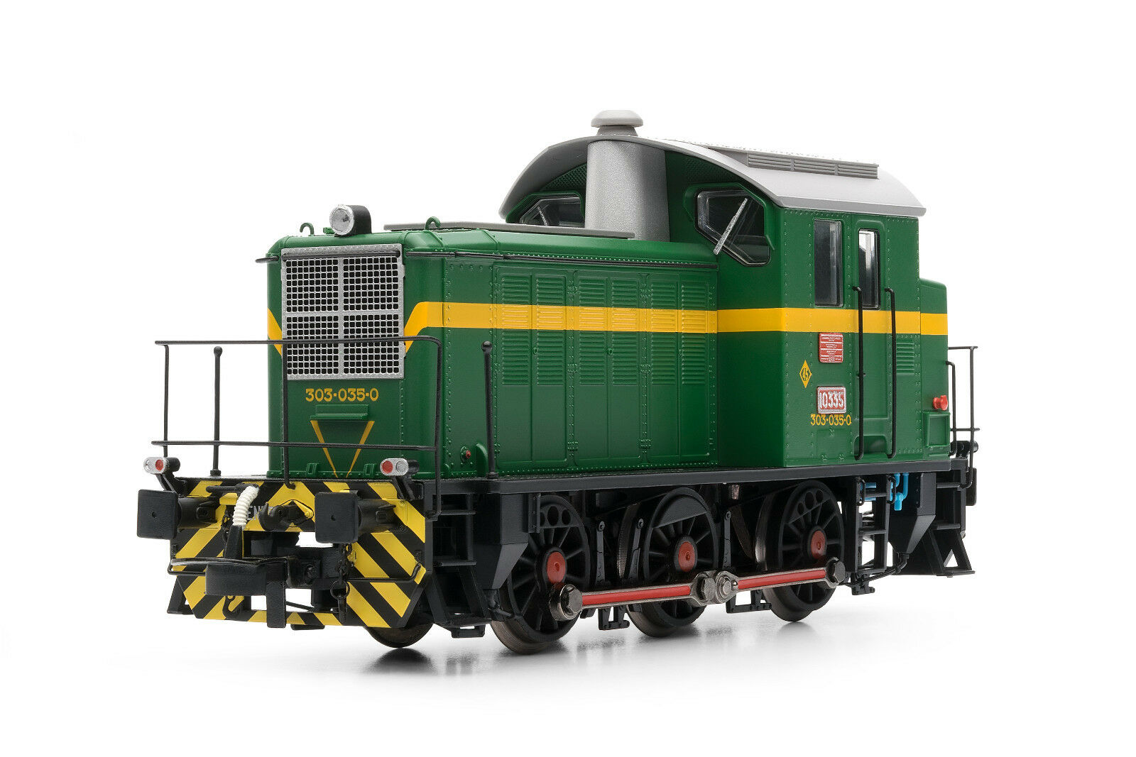Electrossoren e3810 diesel locomotora diesel Renfe 303.035 verde y giallo EP. IV
