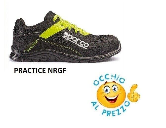 tutti i beni sono speciali Scarpe Antinfortunistica Sparco Practice S1P NRGF Ultra leggera Scarpa Running Running Running  Prezzo al piano