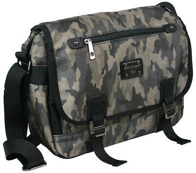 Messenger Bag In Mimetico-college-borsa A Tracolla-anche Crossover, Din A 4+ +-ertasche - Auch Crossover - Din A4++ It-it Mostra Il Titolo Originale Ricambio Senza Costi A Qualsiasi Costo