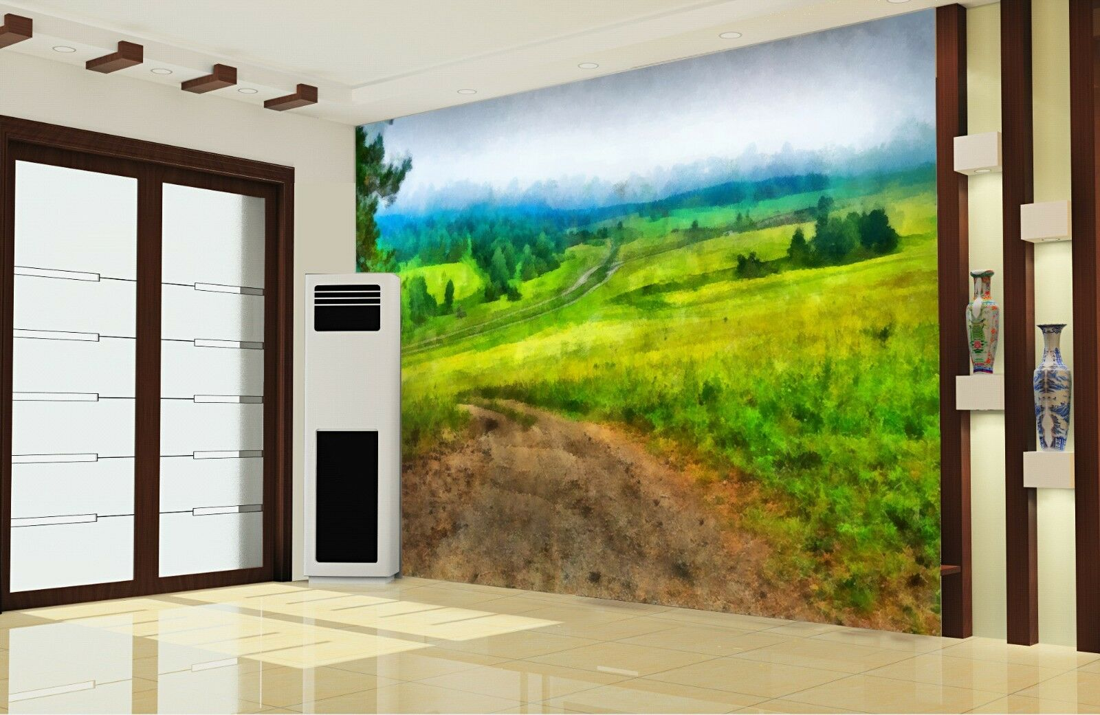 3D Green Field Sky 669 Wall Paper Wall Print Decal Deco Indoor Wall Mural CA