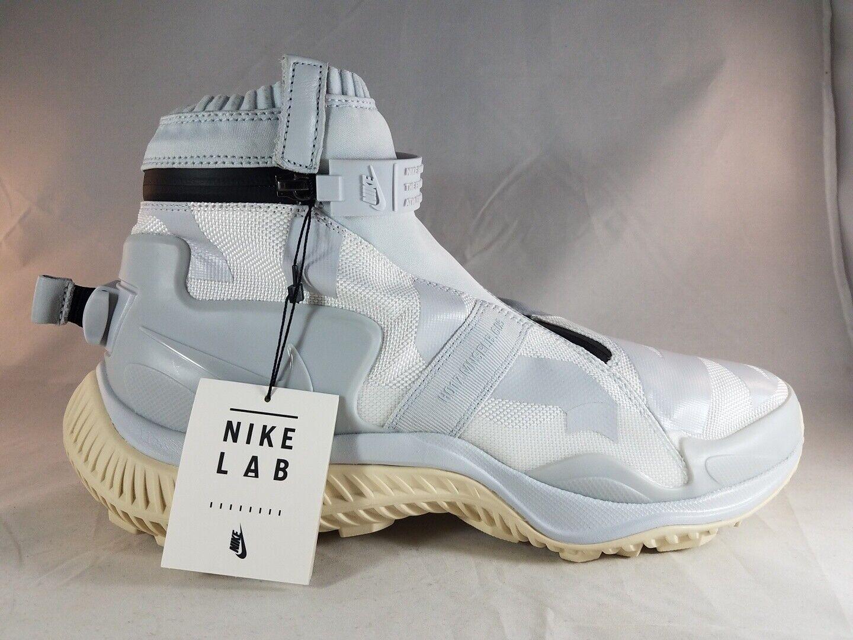Nike Lab NSW Gaiter Boot Men's White Pure Platinum-Black AA0530 100 Size 12