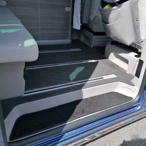 VW California T5 T6 T6.1 Step Mats - 3 Piece Set - Plain Black