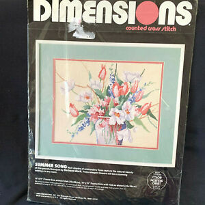 Dimensions-Summer-Song-Cross-Stitch-Barbars-Mock-Kit-1988