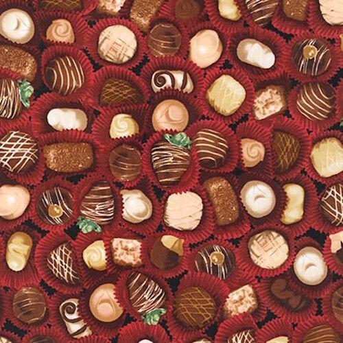 Robert Kaufman The Sweet Shop Chocolate 100/% cotton fabric by the yard