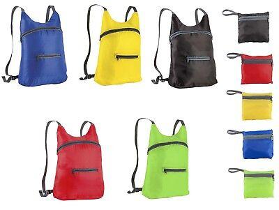 Puntuale Zainetto Runner Con Due Tasche Richiudibile In Una Tasca 5 Colori Cm 41 X 36