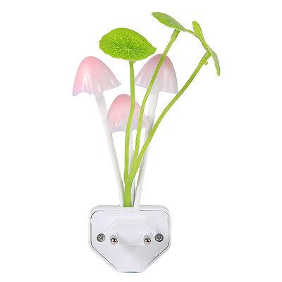 Mushroom Night Light EU Plug Light Control Mushroom Fungus LED Lamp