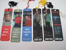 Star Trek Original Series TOS Bookmarks Set of 6 Kirk Spock Bones Scotty Uhura