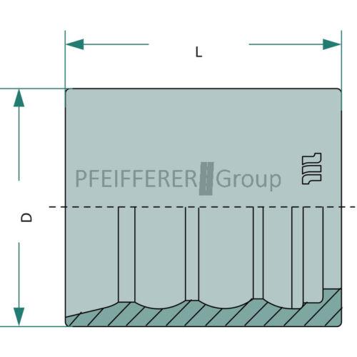 """Hydraulik-Pressfassung PFN 1SC-R7-R8 DN 06-1//4/"""" Hydraulik"""