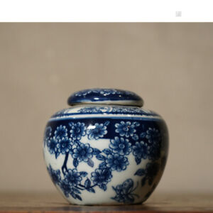 Chinese-old-porcelain-Blue-and-White-flower-Painting-Receiving-Tank-Cover-can