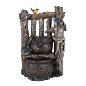 ... Brunnen Wasserfall Gartenbrunnen Garten Kaskaden Zierbrunnen Dekoration  Holz