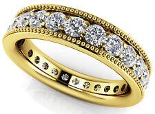 1.81 carat Round Diamond ETERNITY Ring 14k Yellow Gold Band 24 x 0.075 ct Size 7
