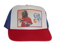 Colt 45 Beer Hat Snoop Dog Trucker Hat Mesh Hat Red White Blue Adjustable