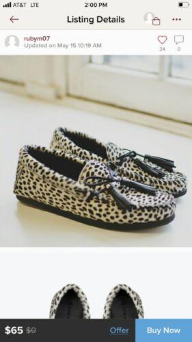 Zara Furry Cheetah Loafers Size 6