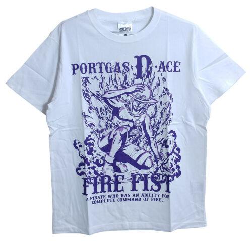 New ONEPIECE PORTGAS-D-ACE T-shirt 4L White Japan Rare JPN