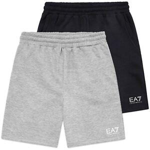 più foto 29cb0 77a76 Dettagli su EMPORIO ARMANI Pantaloncini-EMPORIO ARMANI EA7 Logo Jersey  Pantaloncini-Grigio, Blu Navy- mostra il titolo originale