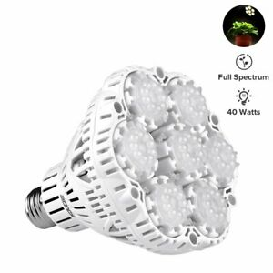 40w Daylight Led Plant Light Bulb Full Spectrum Ceramic