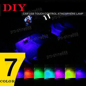 Details about 4 x RGB Mulit Color LED Knight Rider Scanner Car Interior  Lighting Bar + Remote