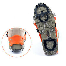 Snow Ice Shoes Spike Chain Grip Boots Crampons Grippers 12 teeth Point Anti Slip