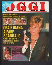 OGGI 37/1992 LOREDANA BERTE' BORG BATMAN BASIC INSTINCT FORTUNATO DEPERO GRUBER