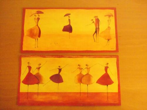 """2er Set von ONA /""""Ballet/"""" /& /""""Flanerie 3/"""" je 11,5x23 cm PK2//53 Neu"""