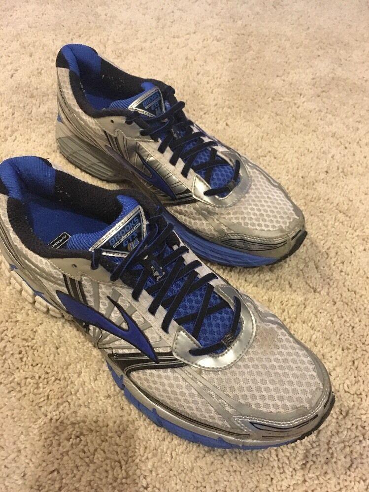 Mens Brooks Running scarpe GTS 14 Adrenaline  Dimensione 11.5 Supporto blu argento  vendita calda online