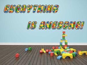 Lego Bricks Wall Sticker Decal Home Decor Art Mural Kids Children WC112