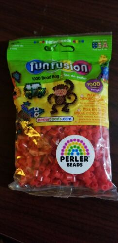 NIP Red RED PERLER Fun Fusion Fuse Beads 1000 ct Solid Colors