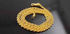 22k Yellow Solid Gold Chain Necklace 0.05mm Rope Design  c178