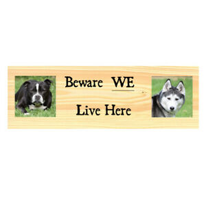 Personalised-Dog-Warning-Sign-Beware-Dogs-Metal-Kennel-Gate-Fence-Door-Plaque