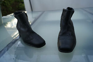 ara-Damen-Schuhe-Stiefel-Boots-Stiefelette-Gr-3-5-G-36-weiches-Leder-schwarz-50