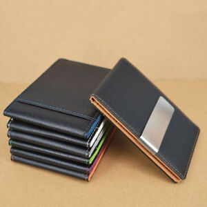 NE-BE-Men-039-s-Faux-Leather-Money-Clip-Slim-Wallet-ID-Credit-Card-Holder-Purse-Pr