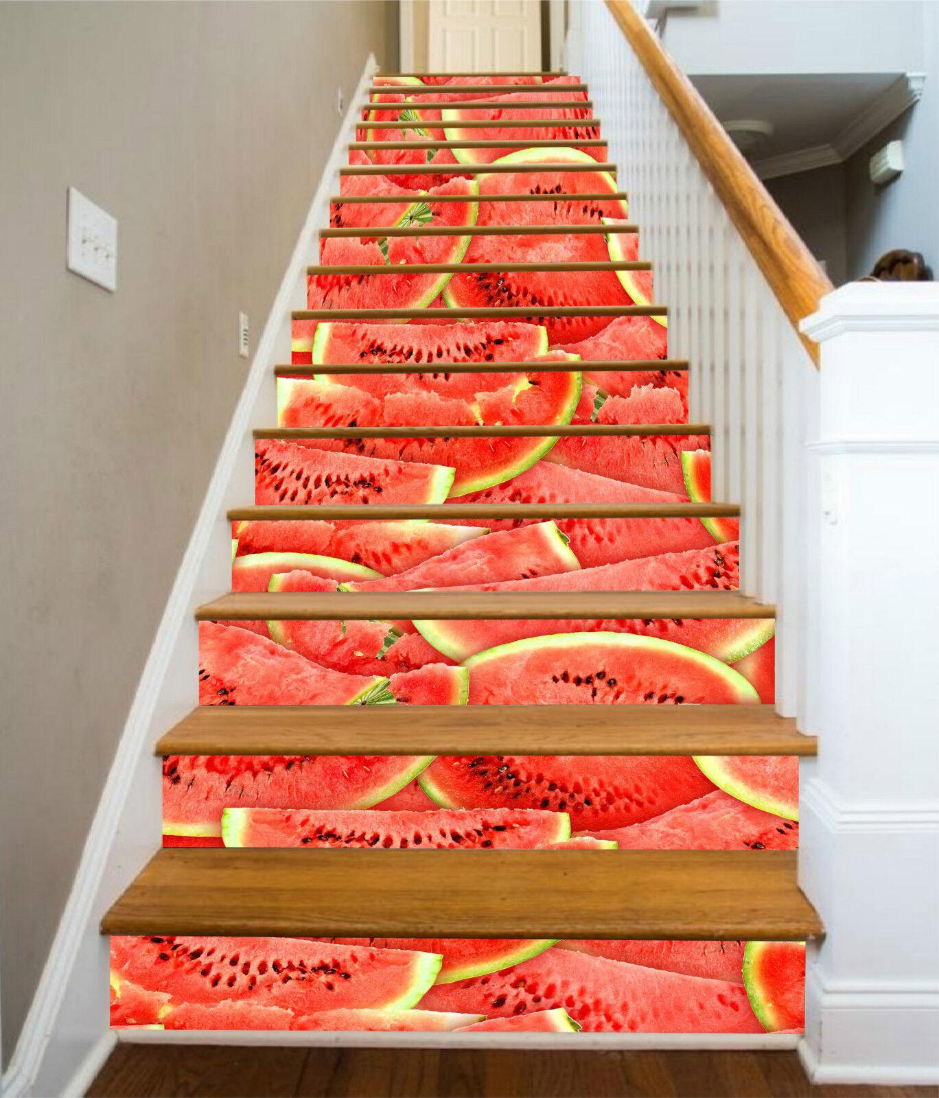 3D Wassermelone 244 Stair Risers Dekoration Fototapete Vinyl Aufkleber Tapete DE