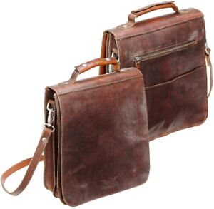 08d0e5f2aaa40 Das Bild wird geladen Rokker-City-Bag-Men-braun-Herren-Handtasche-Echtleder-