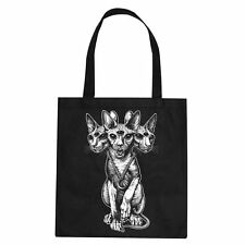 Cerbervs Clothing Stofftasche Sphynx-Occult-KULT-Spirit-Magie-Totebag-NEU