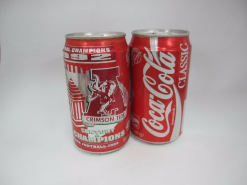 Coca Cola Collectible 1992 Alabama Crimson Tide Championship Can