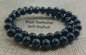 Natural-Black-Tourmaline-Anti-Badluck-Bracelet-8mm-Perfect-Gift