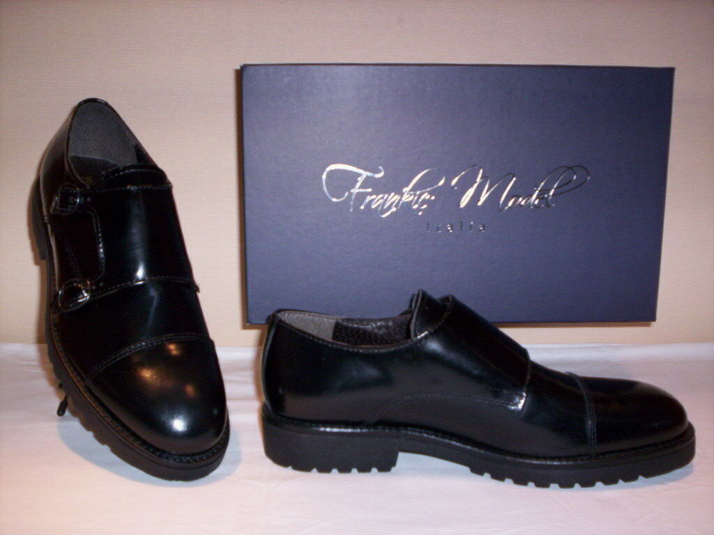 Frankie Model hommes chaussures classiques Élégant casual pour hommes Model en cuir noir 9f20de
