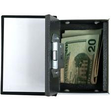 Small Book Safe Metal Secure Lock Key Money Jewelry Cash Hide Secret Box 3x4 In