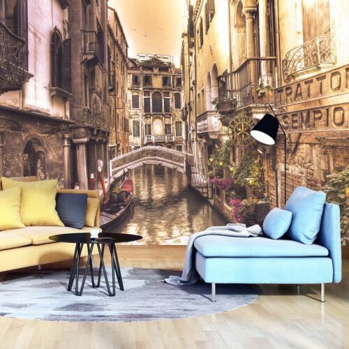 VLIES Fototapete Tapete Wandbild Stadtpanorama Straße Blumen 3D Effekt STADT1VAR