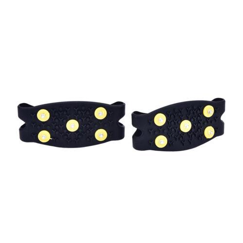 5-Teeth Ice Snow Shoes Spike Claws Boots Chain Crampon Anti-slip Climbing ShoL/_D