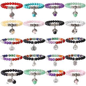 7-Chakra-Tree-of-Life-Healing-Bracelet-Lava-Stone-Meditation-Beads-Yoga-Bracelet